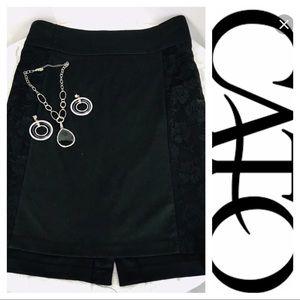 Cato *PLUS SIZE* 💋 Black Skirt Lace Side Panels